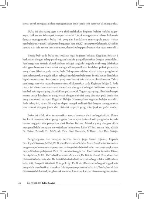 Tata Bahasa Dasar Bahasa Indonesia S Effendi Buku Bahasa Indones buku pegangan siswa bahasa indonesia smp kelas 7 kurikulum 2013 edisi