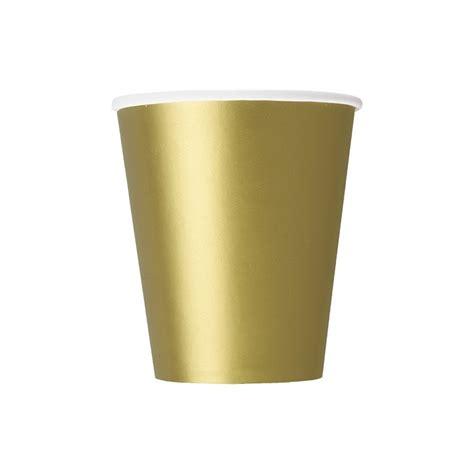 bicchieri carta articoli per feste bicchieri carta dorato 270ml 8pz