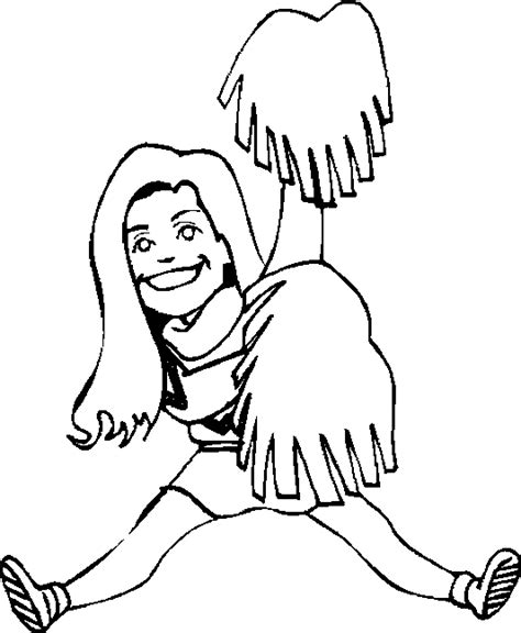 cheerleading coloring pages coloringpagesabc com