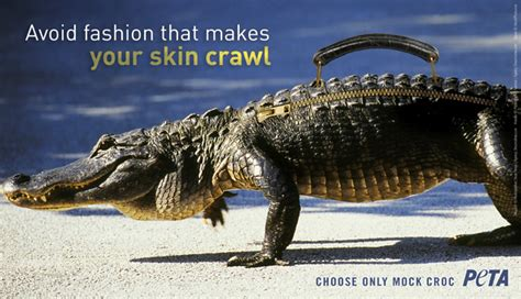According To Peta All Animal Skin Is The Same by Beckham S Bags Are A Croc Peta