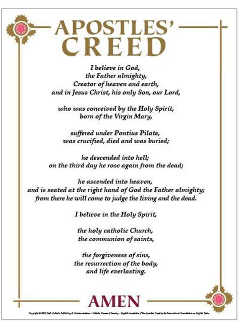 printable version nicene creed apostles creed methodist