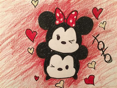 Iring Tsum Tsum Mickey Minnie minnie and mickey tsum tsum by doodleart10 on deviantart