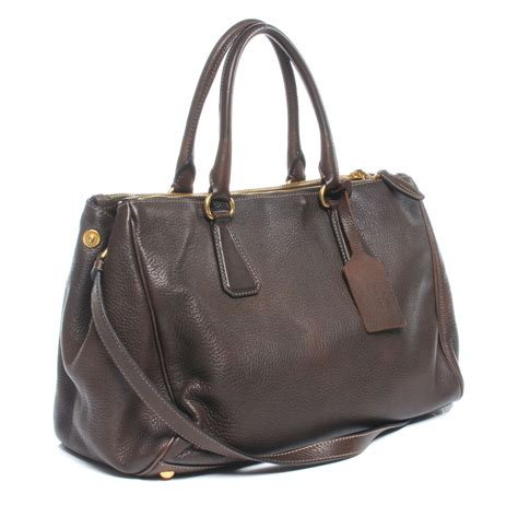 Prada Cervo Tote by Prada Cervo Deerskin Executive Tote Bruciato Brown