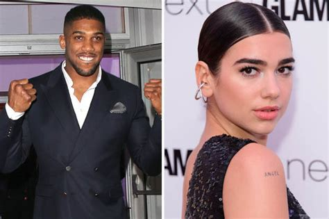 dua lipa dating is dua lipa ready to rumble with anthony joshua daily star