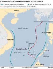South China Sea Dispute Map by South China Sea Us Warship Sails Near Disputed Reef Us