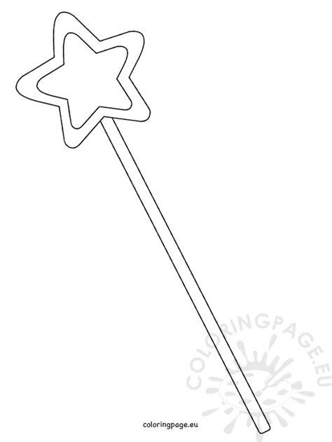 printable star for wand printable magic fairy wand template coloring page