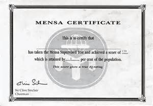 Iq Certificate Template by Mensa Certificate Template Related Keywords Mensa