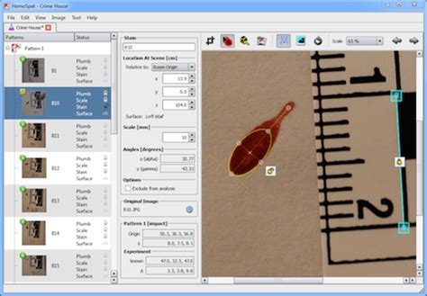 bloodstain pattern analysis limitations hemospat bloodstain pattern analysis software