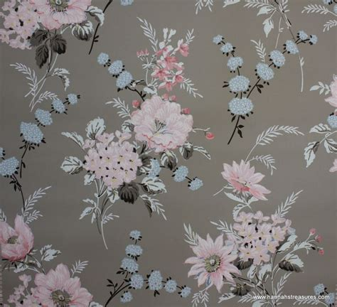 wallpaper grey floral 1940 s vintage wallpaper floral wallpaper with large