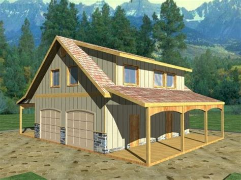 shop apartments detached garage with bonus room plans barn inspired 4
