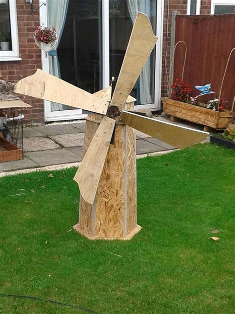 handmade windmill  recycled wood  pallets