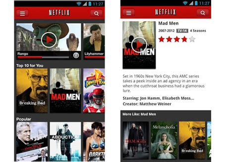 netflix app for android netflix android app updated with new player and more