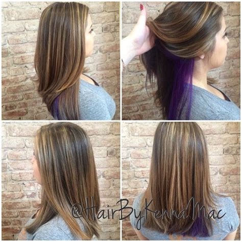 peek a boo color highlights best 20 purple peekaboo highlights ideas on