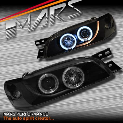 subaru headlight styles black ccfl angel eyes projector head lights for subaru