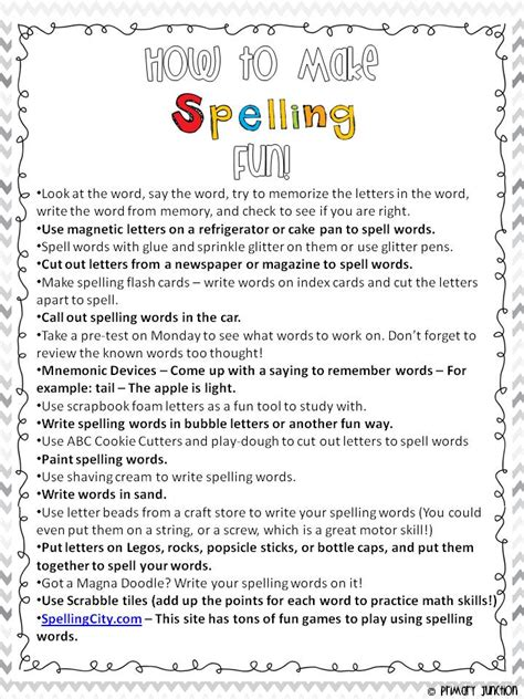 Parent Letter To Practice Sight Words Primary Junction How To Make Spelling Parent Handout