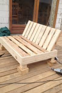 Bench Made From Wooden Pallets Garden Furniture From Pallets Themselves Building And