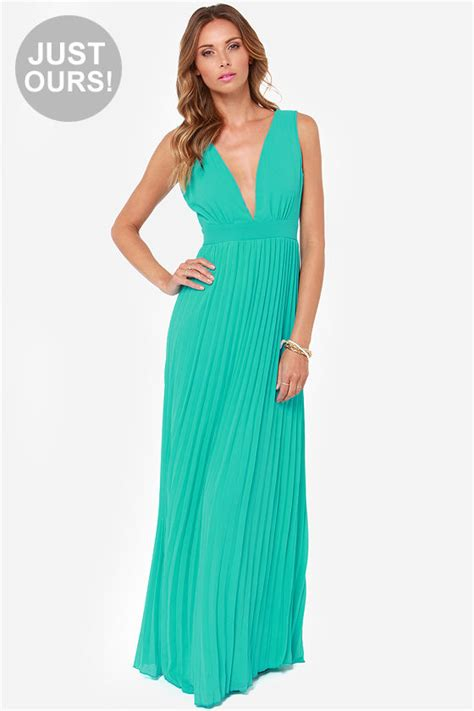 Lulus Exclusive Offer Get 15 On Fab Clothes by Gorgeous Maxi Dress Aqua Maxi Dress Pleated Dress