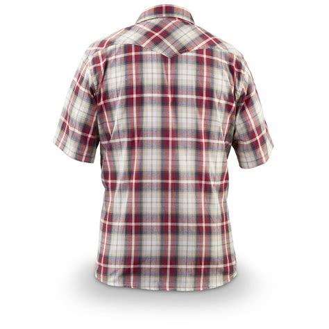 Plaid Sleeve Shirt guide gear s western plaid sleeve shirt 613618
