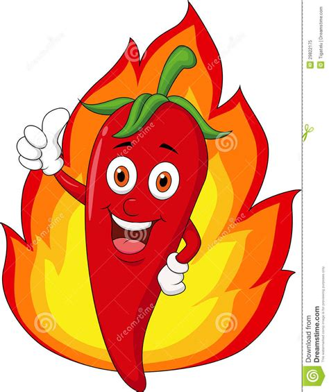 3d Stickers For Walls red chili cartoon with flame royalty free stock photo