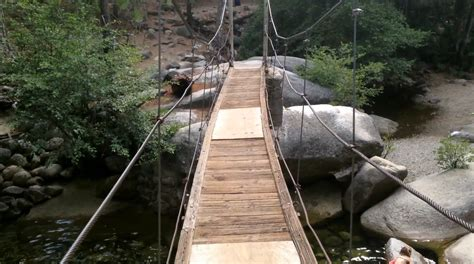 swinging bridge yosemite a minute away under swinging bridge wawona yosemite