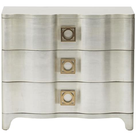 Silver Leaf Nightstand with Oriana Modern Classic Antique Silver Leaf 3 Drawer Nightstand Kathy Kuo Home