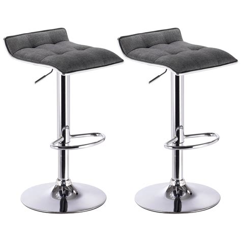 Diy Swivel Bar Stools by Bar Stools Set Of 2 Linen Stool Kitchen Breakfast Chair
