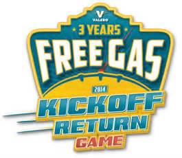 Valero Gas Gift Card - valero free gas 2014 kickoff return game 1 000 winners i crave freebies