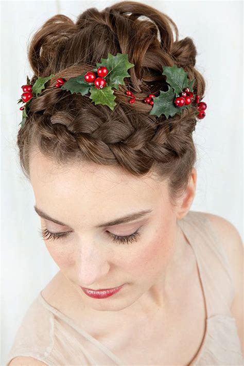 christmas hairstyles for women 15 creative themed hairstyle ideas 2015 tree hairstyles modern fashion