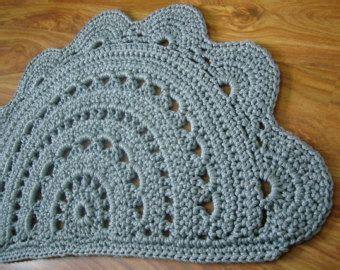 Crochet Doormat by Crochet Doormat Light Gray Doormat Door Rug Half