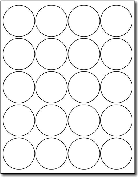 2 Inch Round Labels Round White Labels Desktop Supplies Avery 2 Inch Circle Label Template