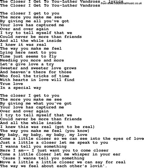 free download mp3 beyonce the closer i get to you image gallery luther vandross lyrics