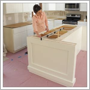 how to install a kitchen island build a diy kitchen island build basic