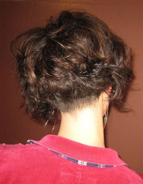 curly and short haircut showing back 25 best ideas about curly asymmetrical bob on pinterest