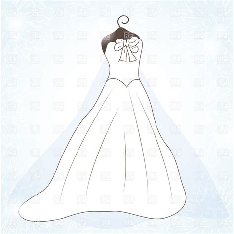 Wedding Dress Outline by Best Wedding Dress Outline 10129 Clipartion
