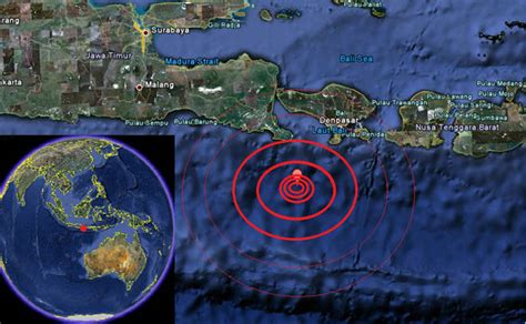 earthquake bali earthquake map bali