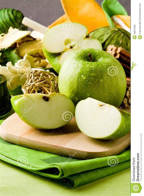 green apple dessert on cutting board stock photo image 19647580