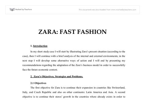 Mba In Fashion Management Scope by Zara Study Swot South Florida Painless Breast