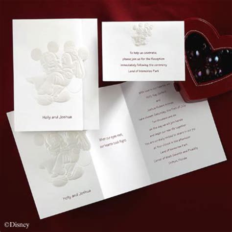 wedding invitation to mickey mouse disney wedding invitations cherry