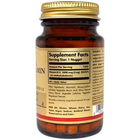 Methylcobalamin Also Search For Solgar Methylcobalamin Vitamin B12 5000 Mcg 30