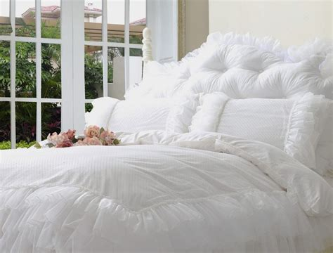 White Ruffle King Comforter by Aliexpress Buy Luxury Snow White Bedding Sets
