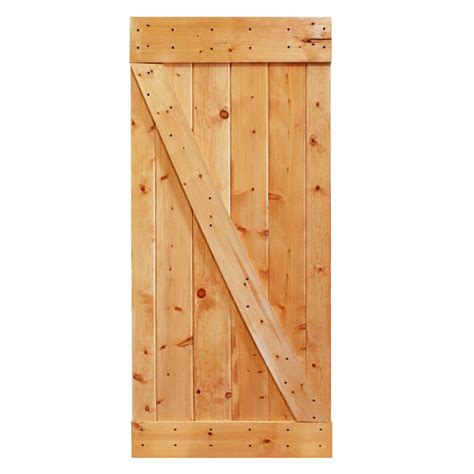 Pine Sliding Closet Doors Calhome 36 In X 84 In Stained Sliding Barn Knotty Pine Wood Interior Door Slab Door B36a Diy
