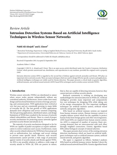 intrusion detection system research paper intrusion detection systems based on pdf
