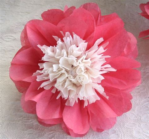 Flower With Tissue Paper - sale 12 open tissue paper flowers ala by annemusingdesigns