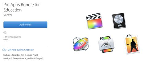 final cut pro price student apple offers 199 99 pro apps bundle for education