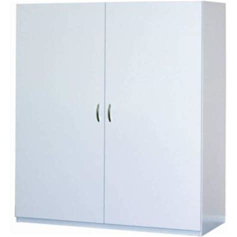 closetmaid jumbo storage cabinet closetmaid 80 in h x 48 in w x 16 in d white melamine