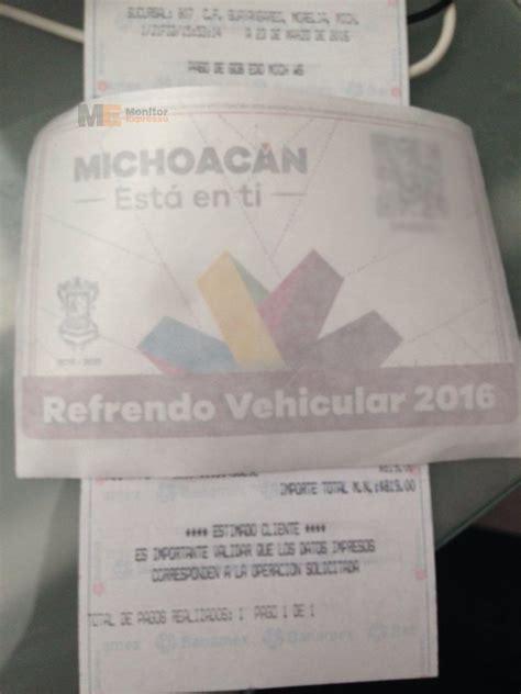imprimir orden de pago refrendo michoacan sencillos pasos para pagar en banco el reemplacamiento
