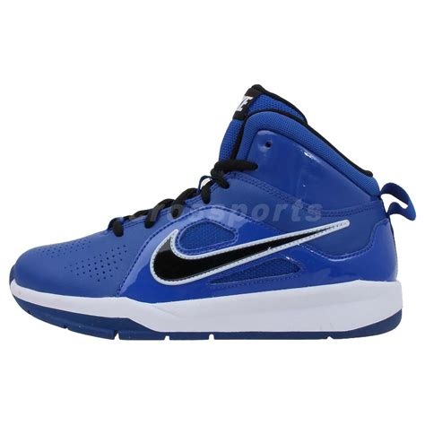 nike boys basketball shoes blue nike team hustle d 6 gs blue black 2013 boys youth