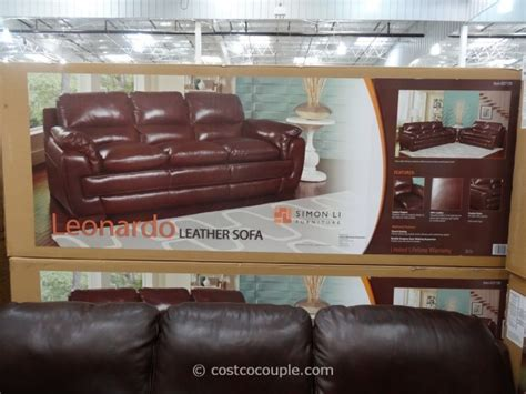 costco simon li leonardo sofa simon li leonardo leather sofa