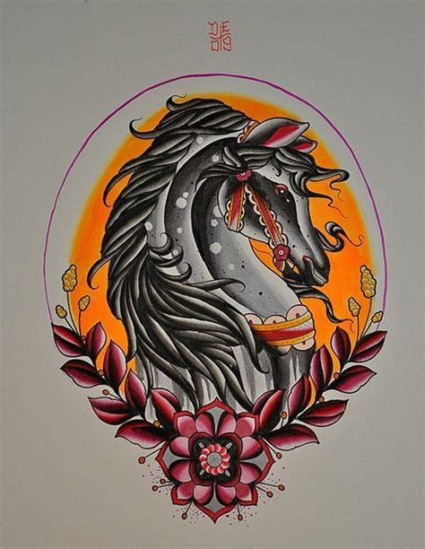 neo traditional horse tattoo design best tattoo designs