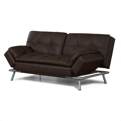 lifestyle solutions matrix faux leather convertible sofa
